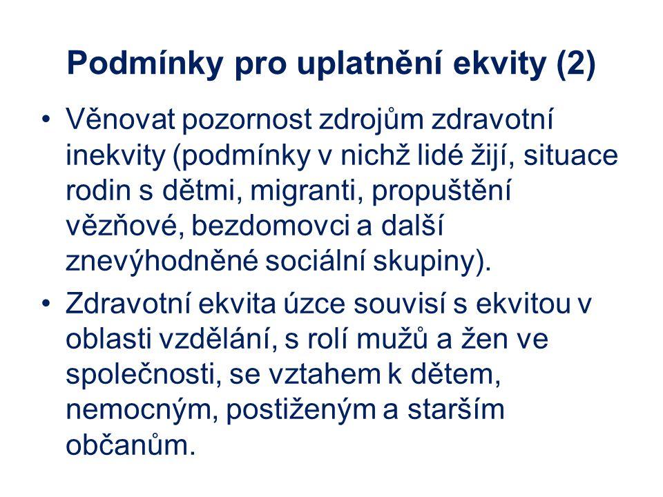 Podmínky pro uplatnění ekvity (2)