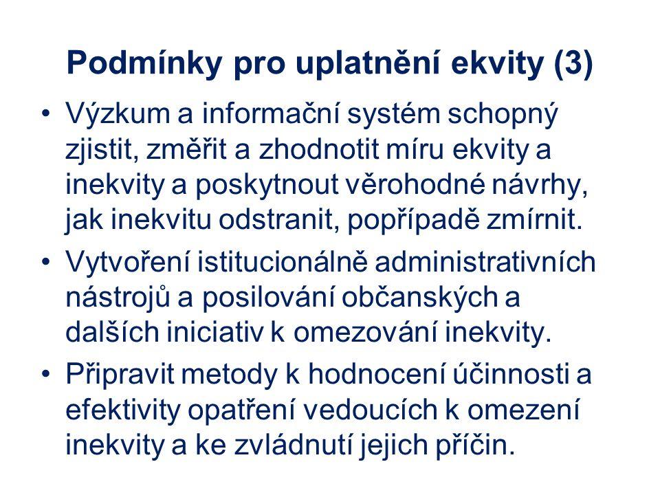 Podmínky pro uplatnění ekvity (3)