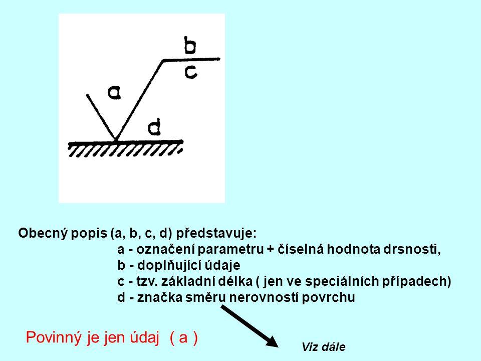 Povinný je jen údaj ( a ) Obecný popis (a, b, c, d) představuje: