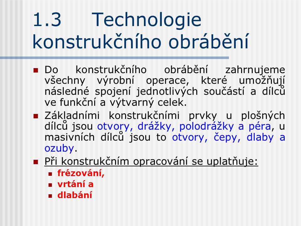 1.3 Technologie konstrukčního obrábění