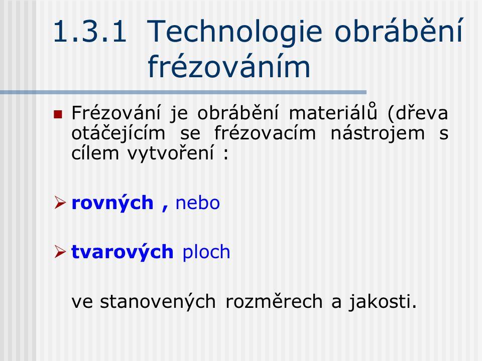 1.3.1 Technologie obrábění frézováním