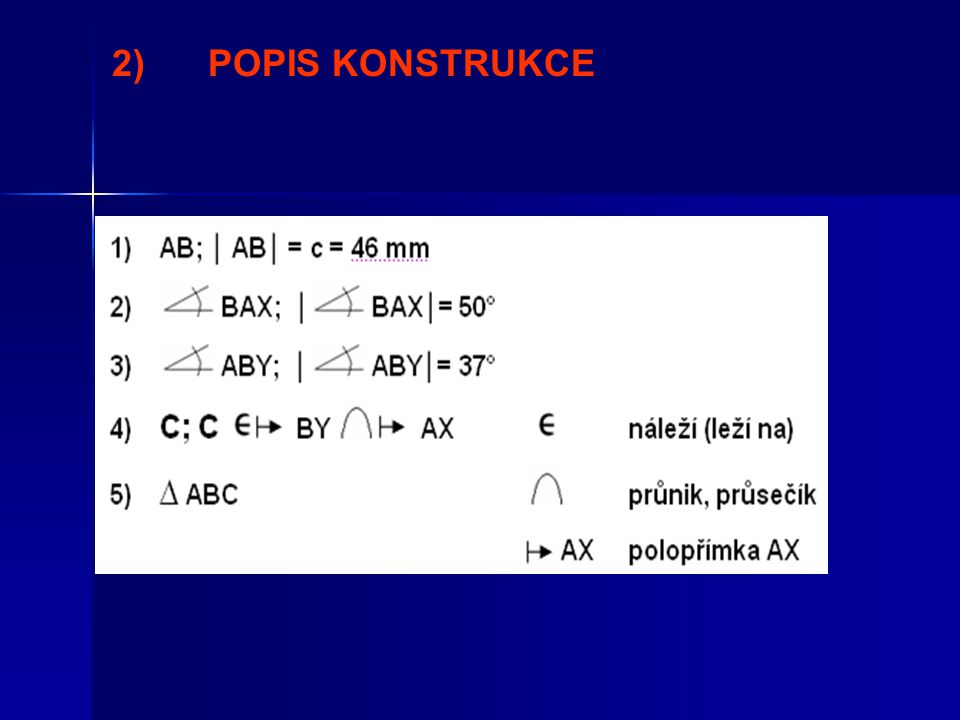 2) POPIS KONSTRUKCE
