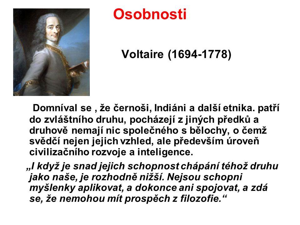 Osobnosti Voltaire (1694-1778)