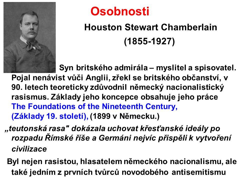 Osobnosti Houston Stewart Chamberlain. (1855-1927)