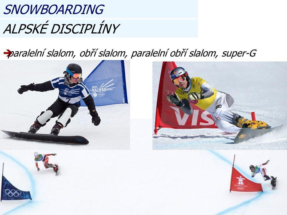 SNOWBOARDING ALPSKÉ DISCIPLÍNY