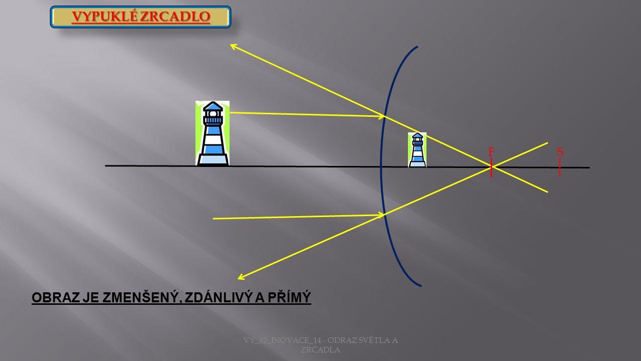 VY_32_INOVACE_14 - ODRAZ SVĚTLA A ZRCADLA