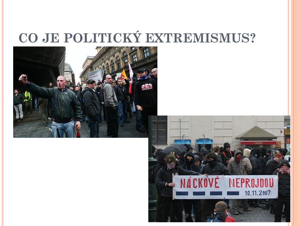 CO JE POLITICKÝ EXTREMISMUS