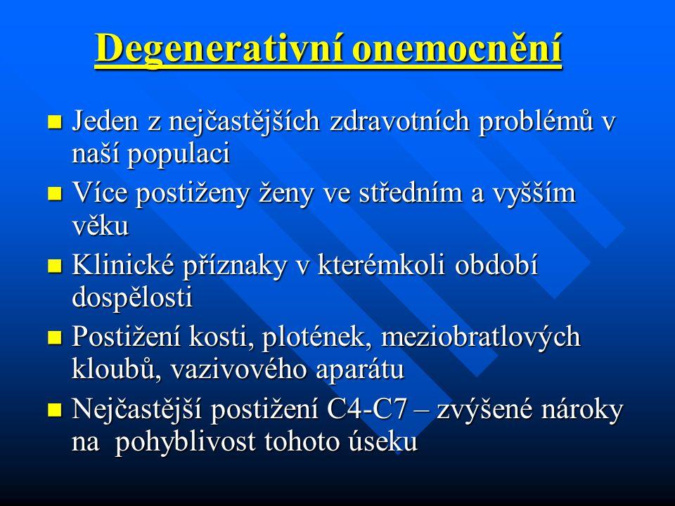 Degenerativní onemocnění