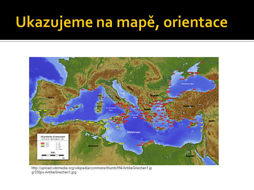 Ukazujeme na mapě, orientace