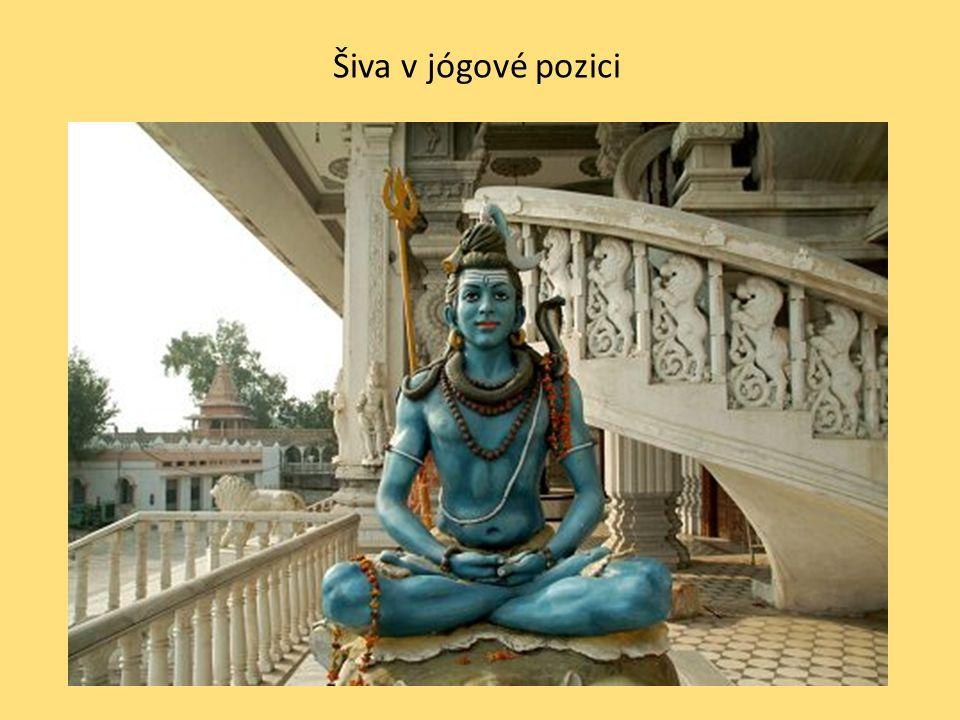 Šiva v jógové pozici