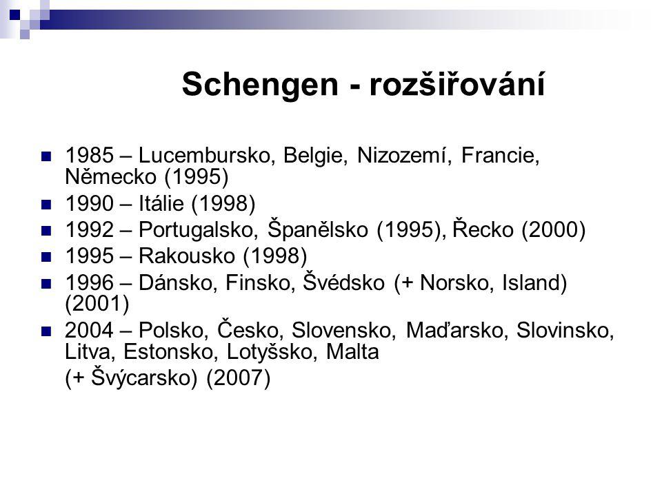 Schengen - rozšiřování