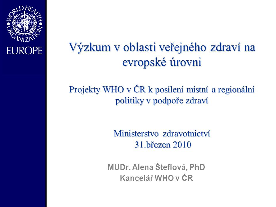 MUDr. Alena Šteflová, PhD