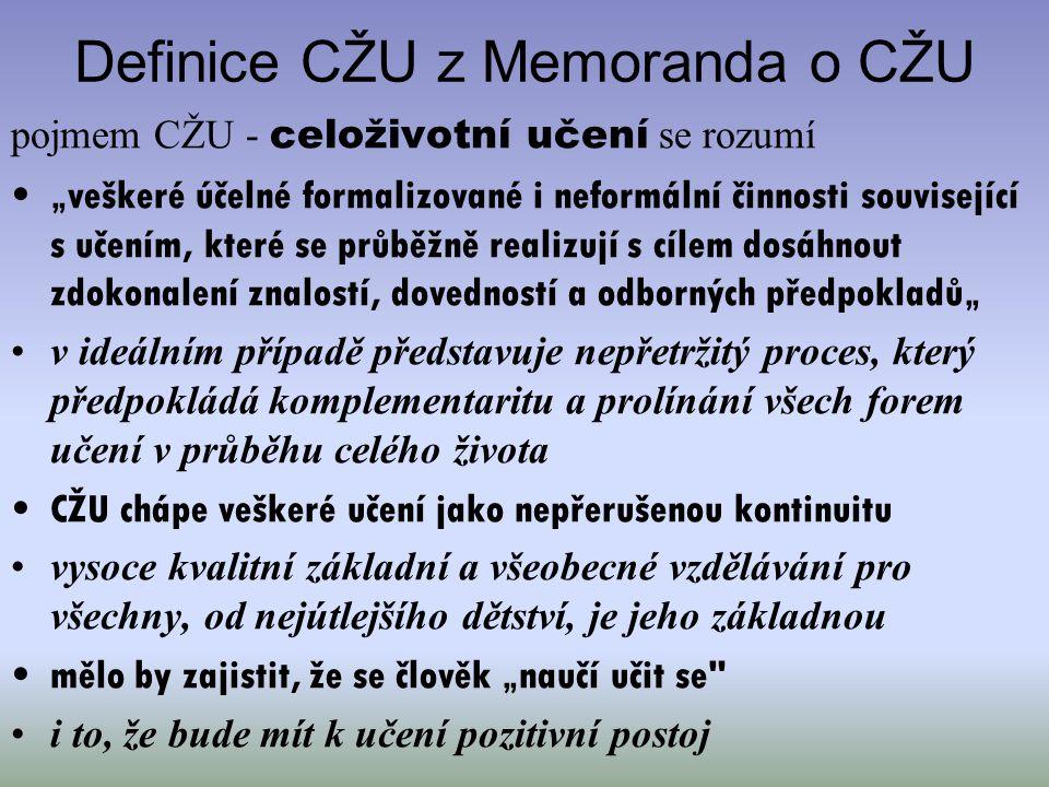Definice CŽU z Memoranda o CŽU