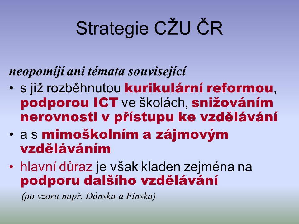 Strategie CŽU ČR neopomíjí ani témata související