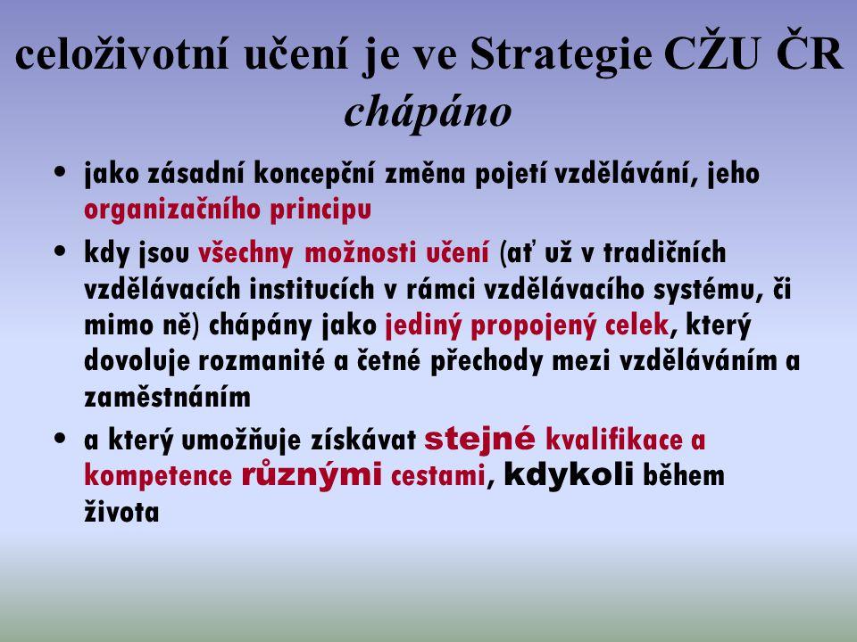 celoživotní učení je ve Strategie CŽU ČR chápáno