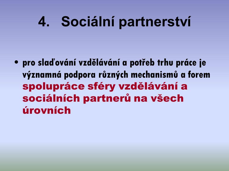 4. Sociální partnerství