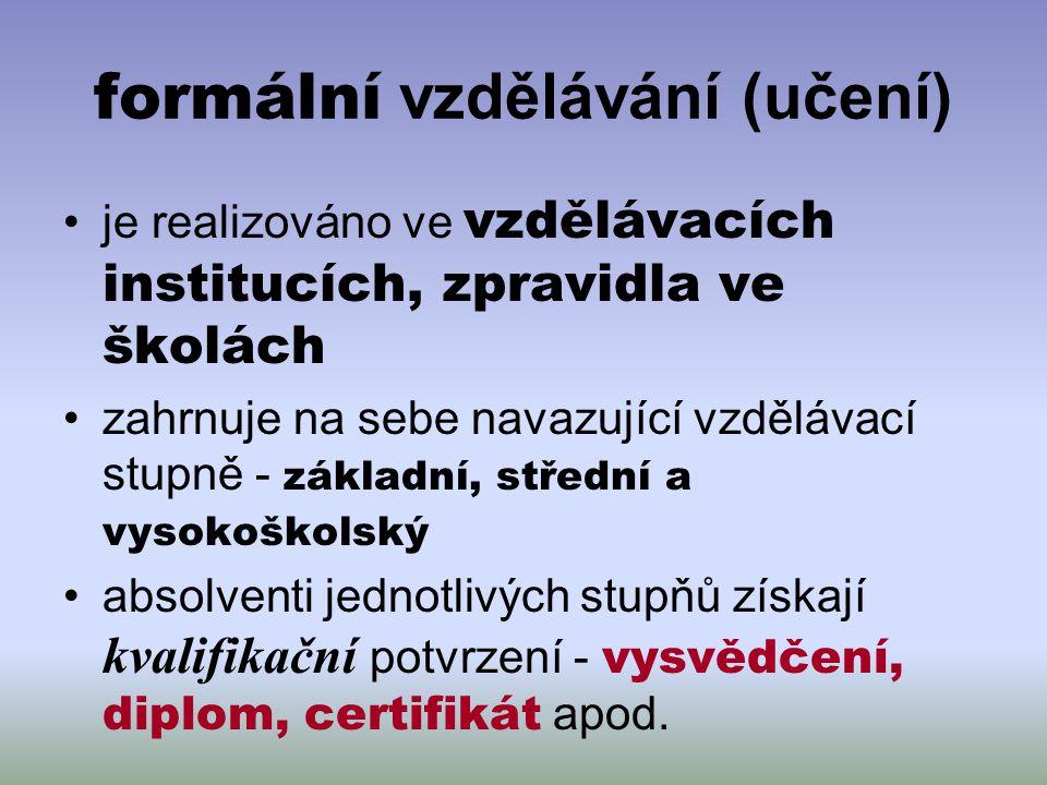 formální vzdělávání (učení)