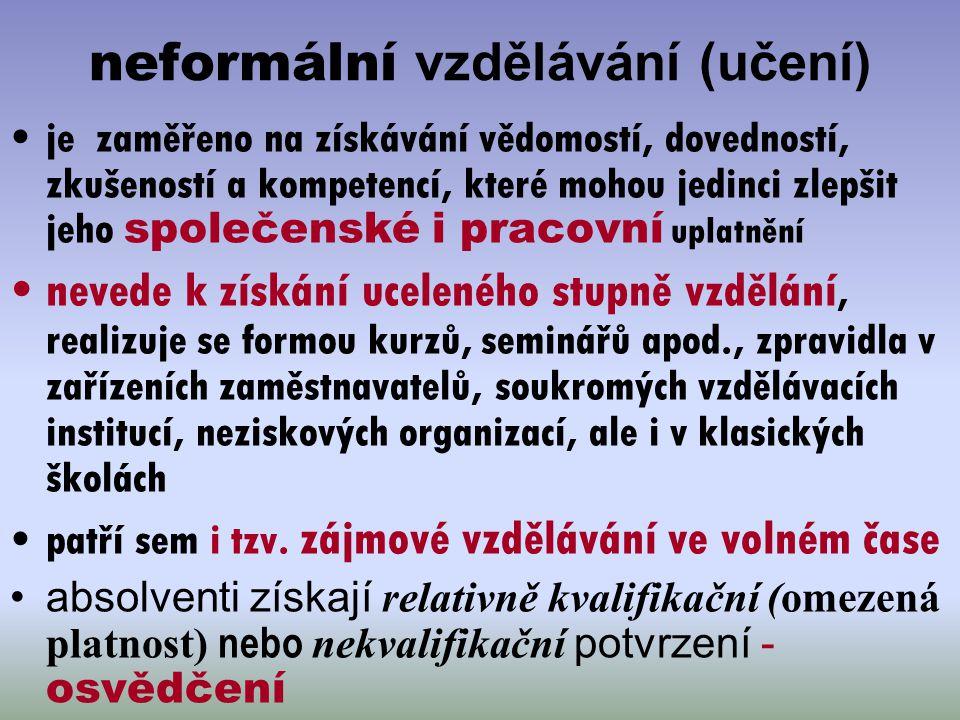 neformální vzdělávání (učení)