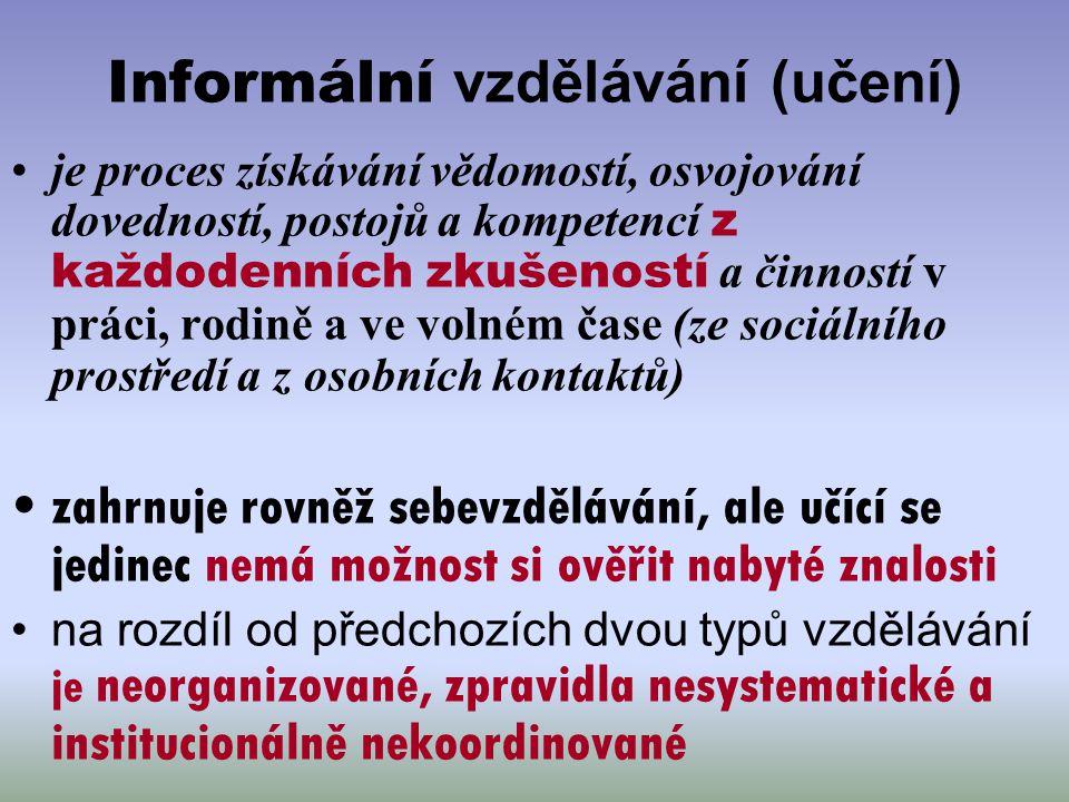 Informální vzdělávání (učení)