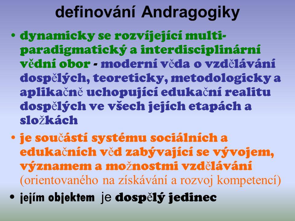 definování Andragogiky