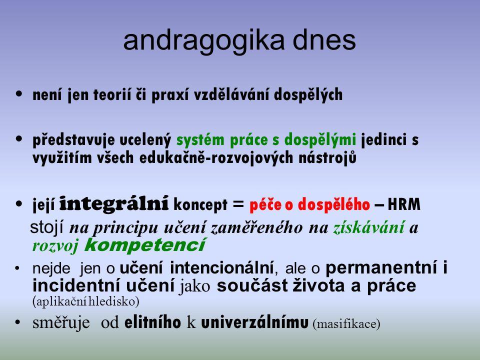 andragogika dnes není jen teorií či praxí vzdělávání dospělých