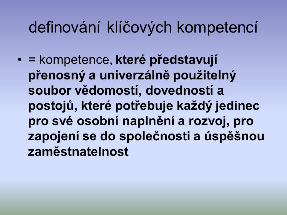 definování klíčových kompetencí