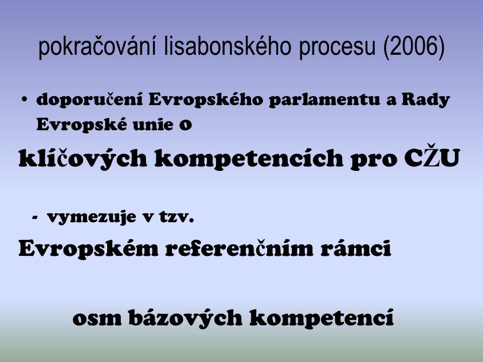 pokračování lisabonského procesu (2006)