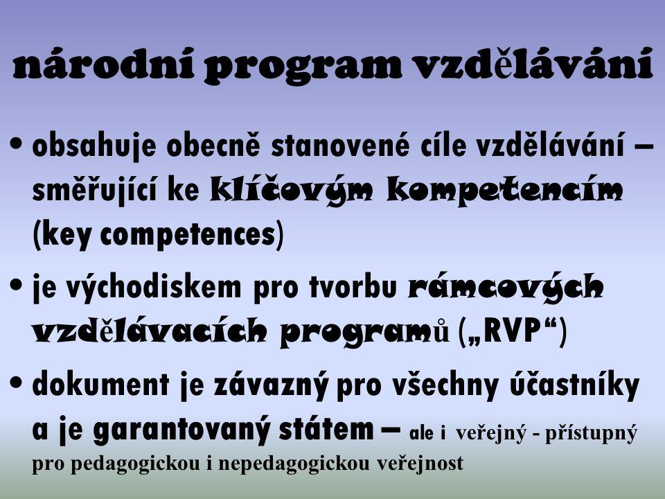národní program vzdělávání
