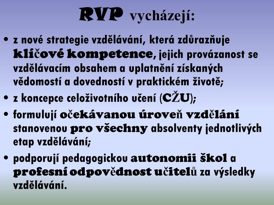 RVP vycházejí: