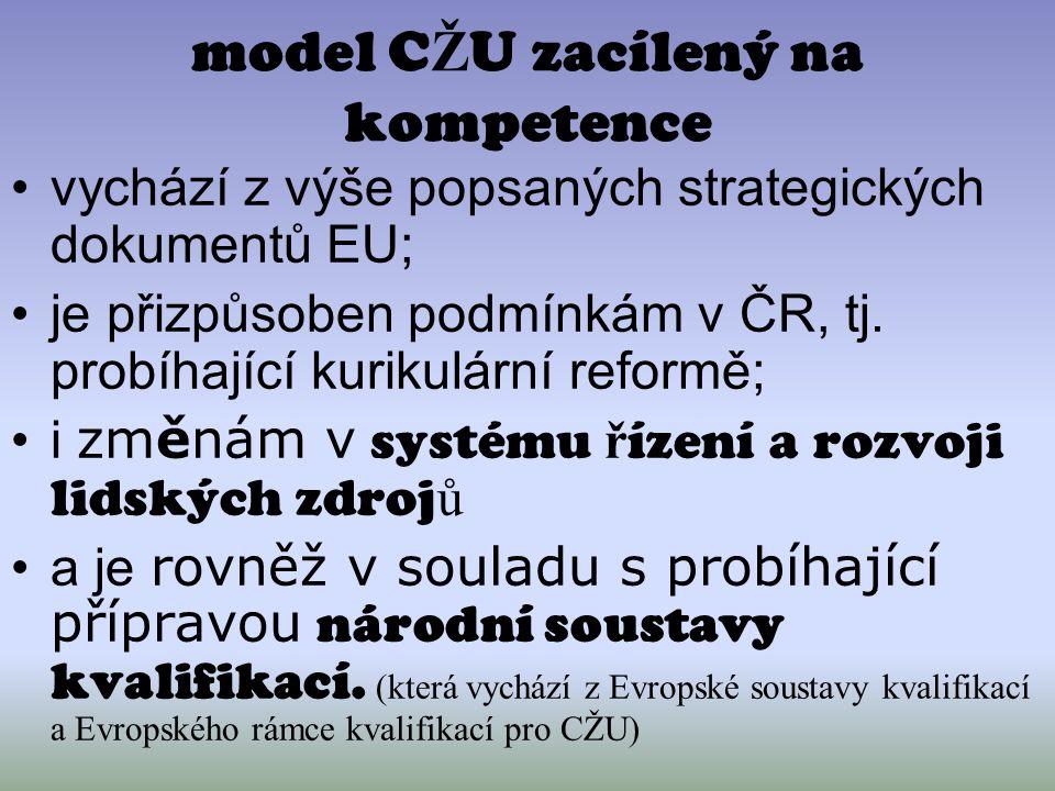 model CŽU zacílený na kompetence