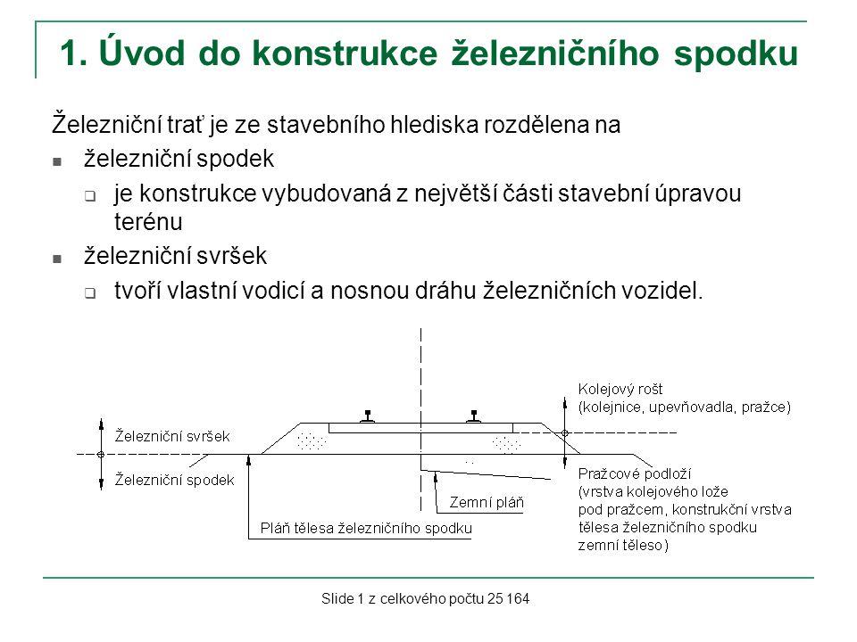 1. Úvod do konstrukce železničního spodku