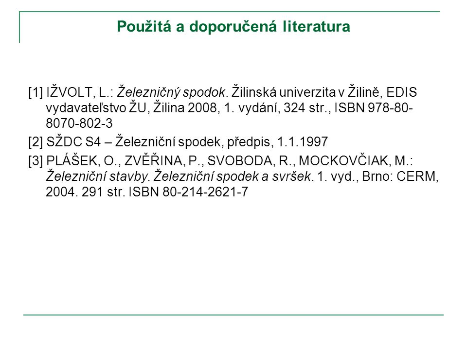 Použitá a doporučená literatura