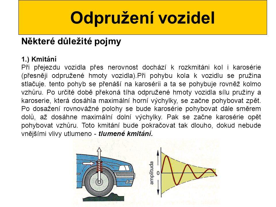 Odpružení vozidel Některé důležité pojmy 1.) Kmitání