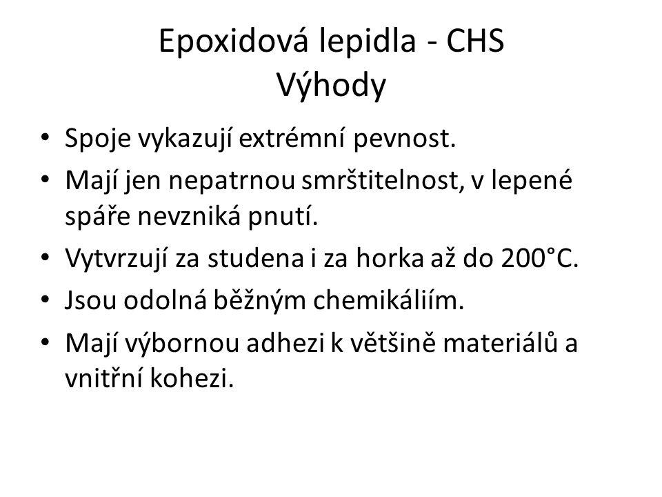 Epoxidová lepidla - CHS Výhody