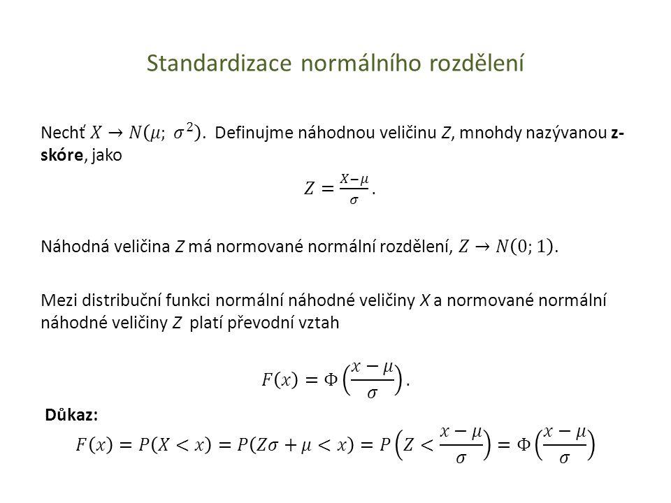 Standardizace normálního rozdělení