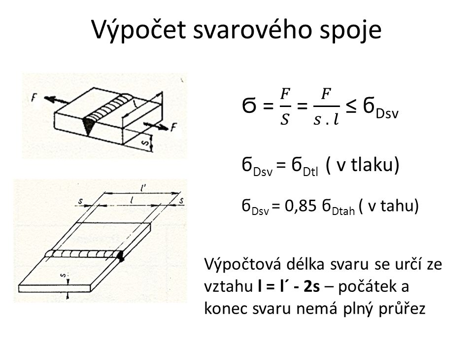 Výpočet svarového spoje
