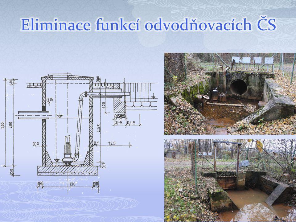 Eliminace funkcí odvodňovacích ČS