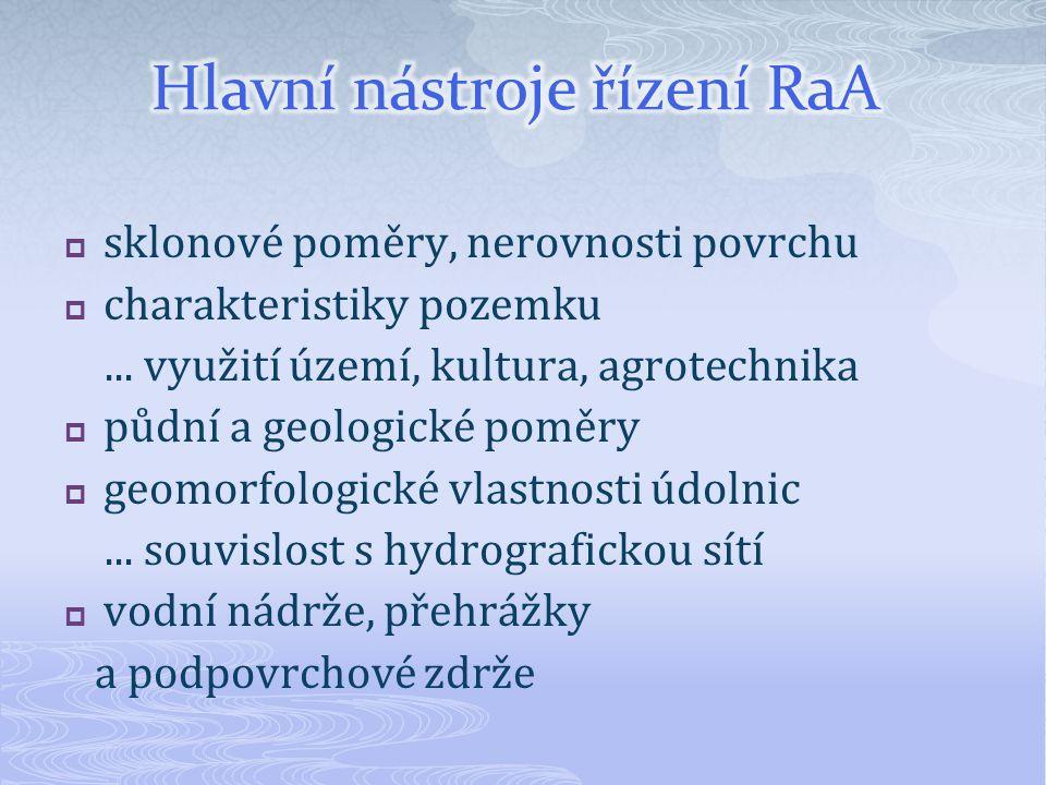 Hlavní nástroje řízení RaA