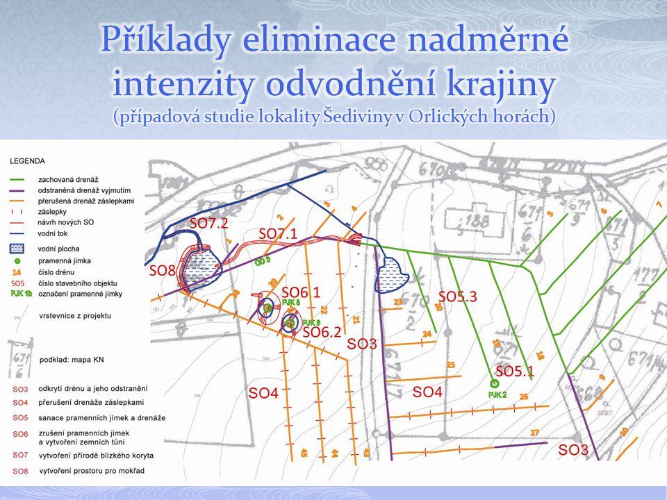 Příklady eliminace nadměrné intenzity odvodnění krajiny (případová studie lokality Šediviny v Orlických horách)