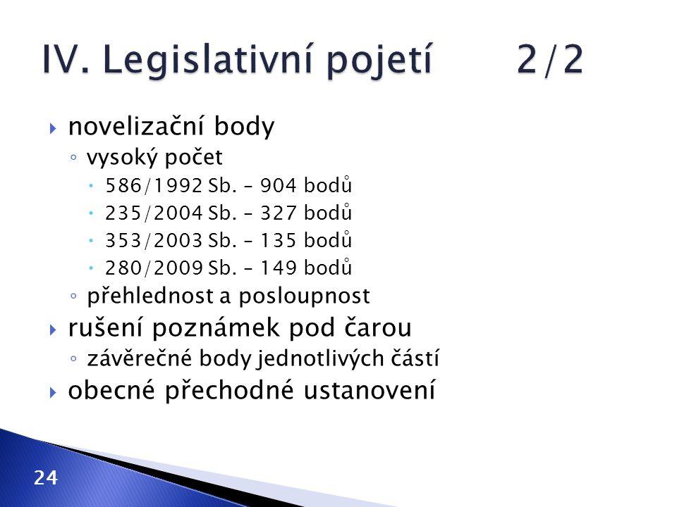 IV. Legislativní pojetí 2/2