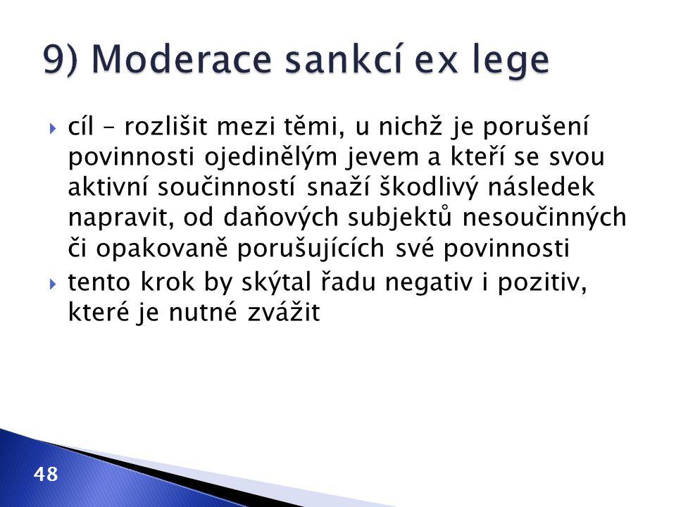 9) Moderace sankcí ex lege
