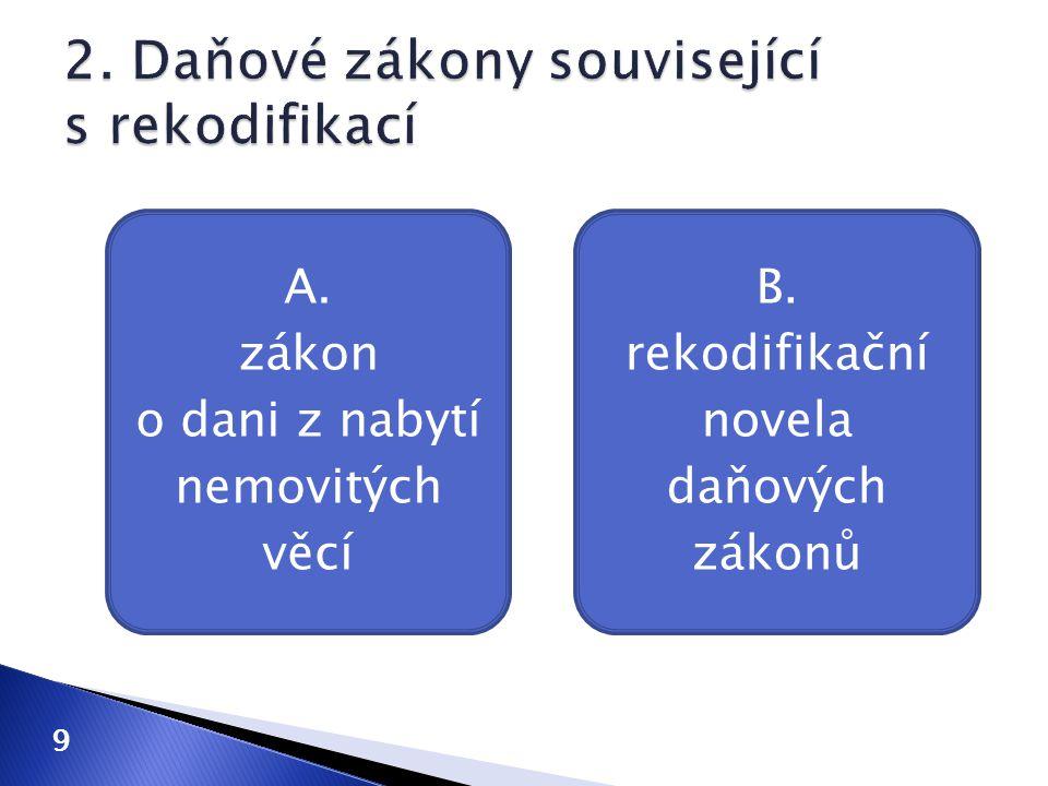 2. Daňové zákony související s rekodifikací