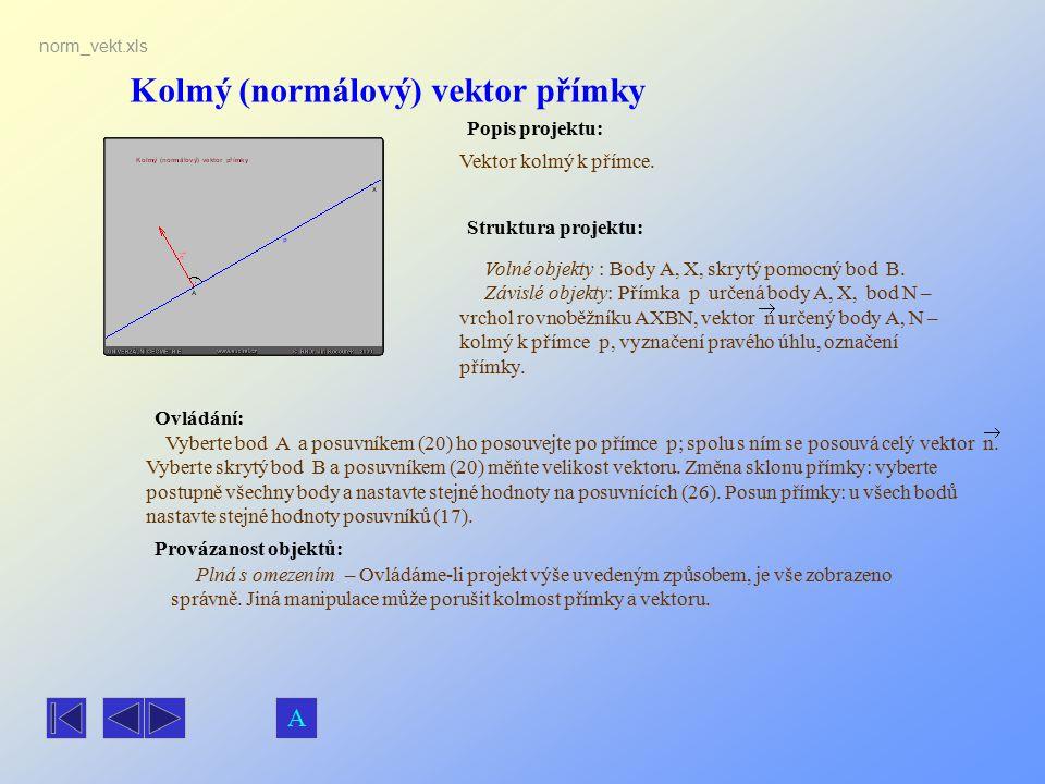 Kolmý (normálový) vektor přímky