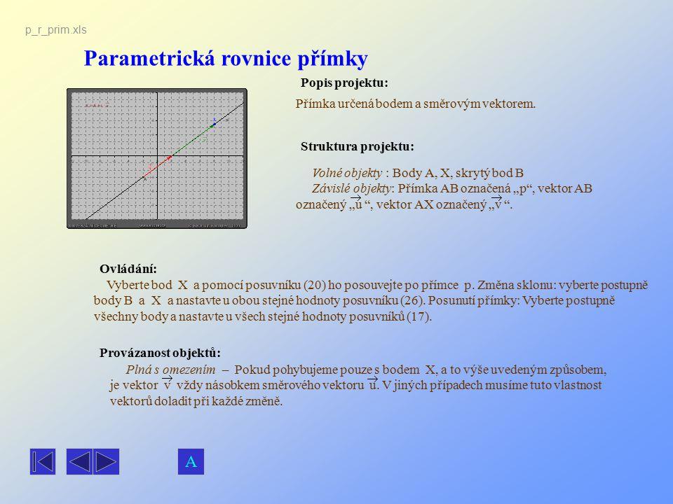 Parametrická rovnice přímky