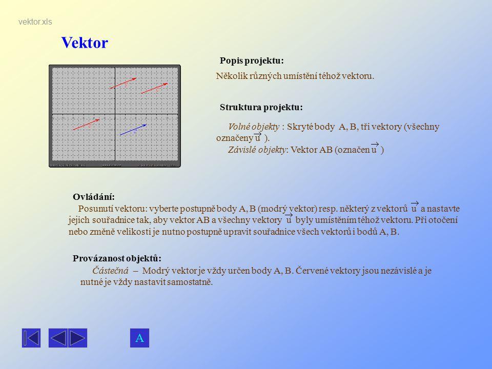 Vektor A Popis projektu: Několik různých umístění téhož vektoru.