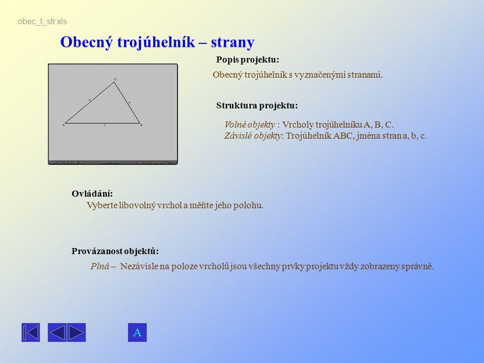 Obecný trojúhelník – strany