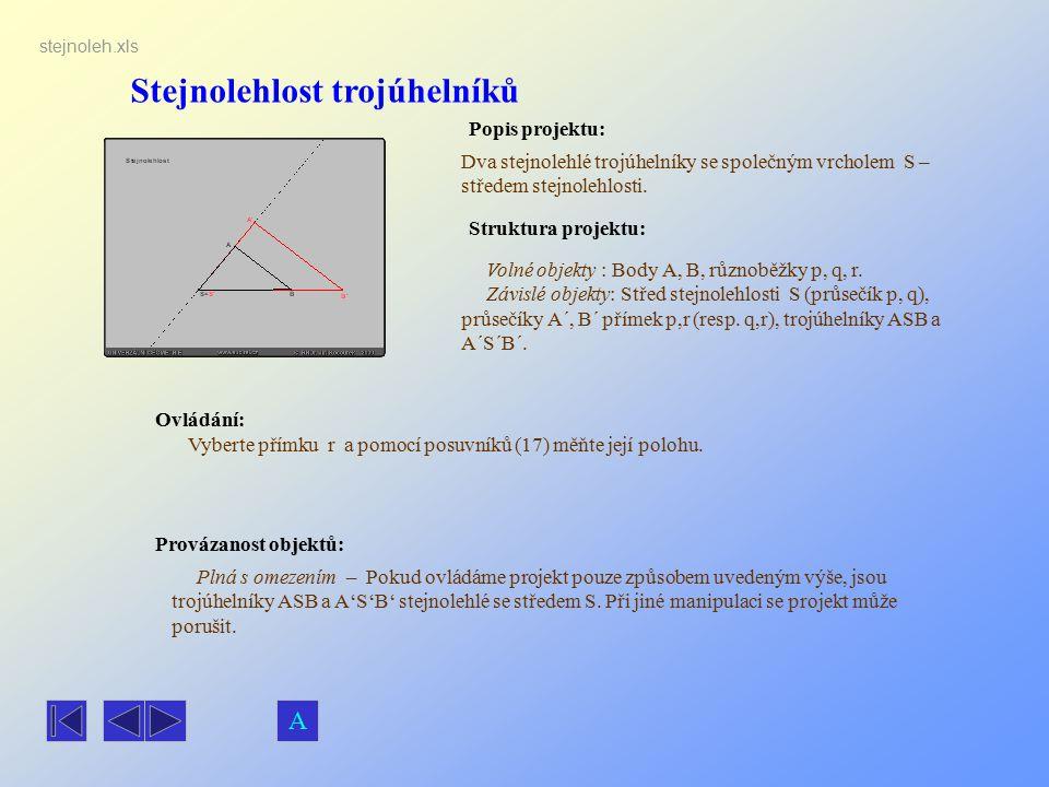 Stejnolehlost trojúhelníků