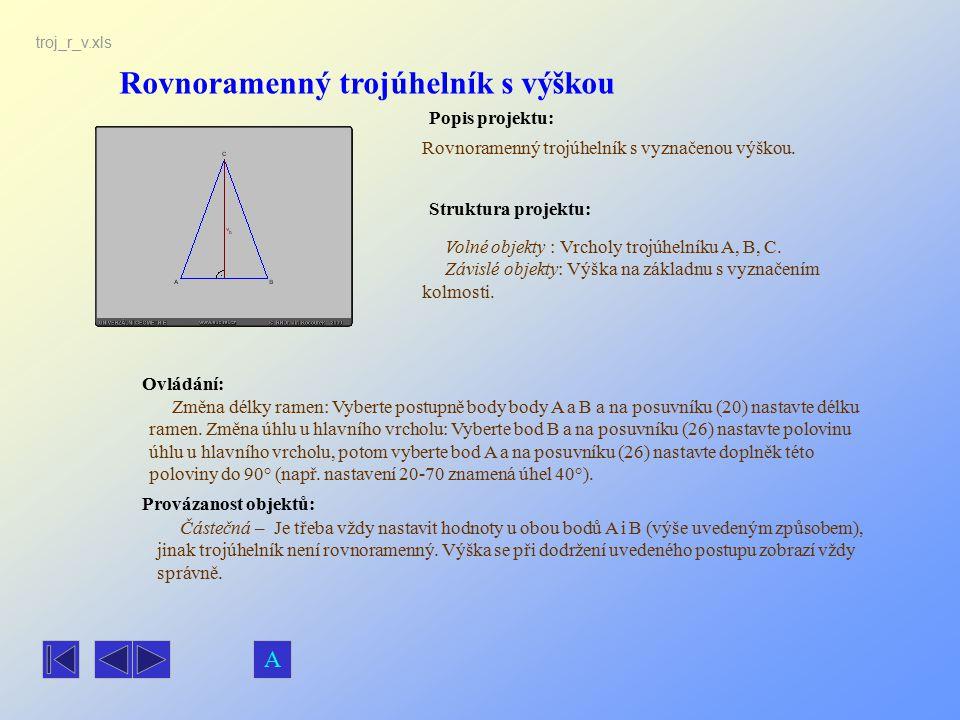 Rovnoramenný trojúhelník s výškou