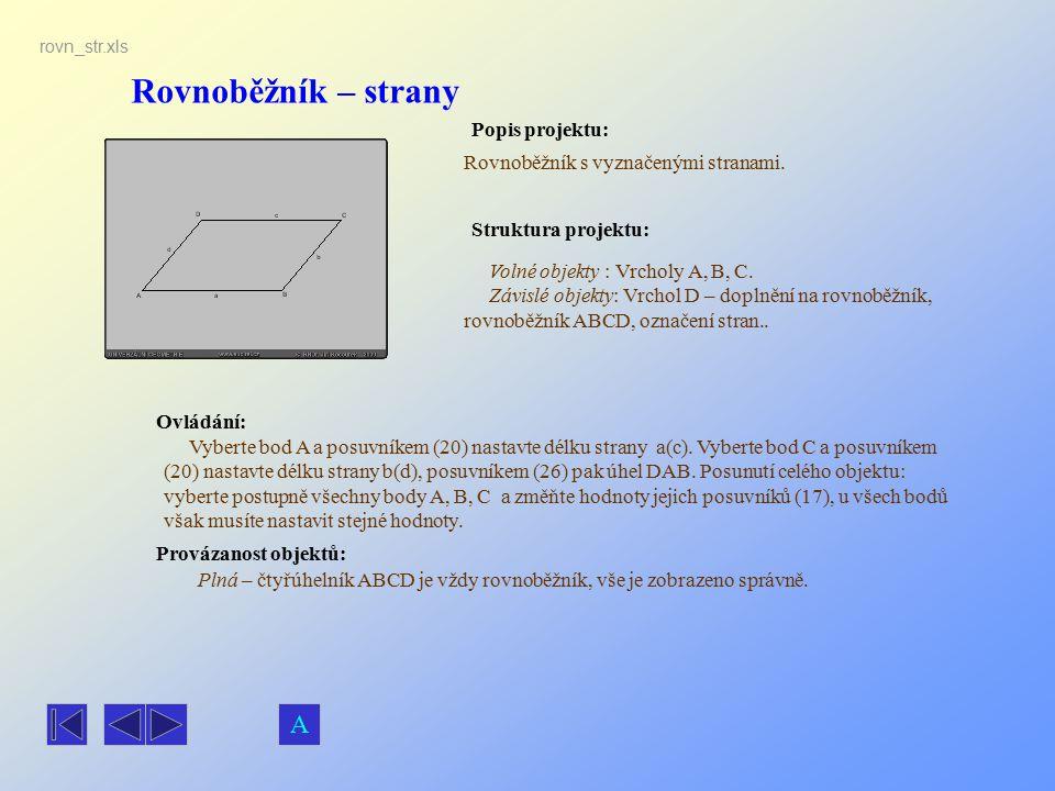 Rovnoběžník – strany A Popis projektu: