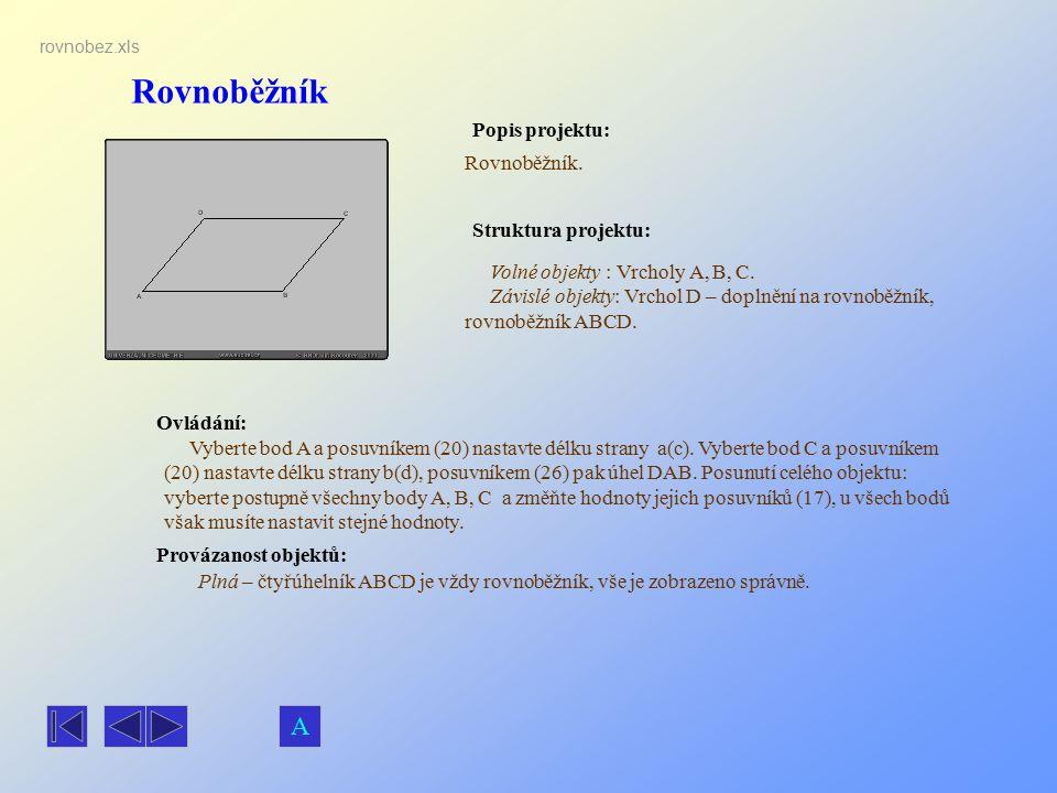 Rovnoběžník A Popis projektu: Rovnoběžník. Struktura projektu: